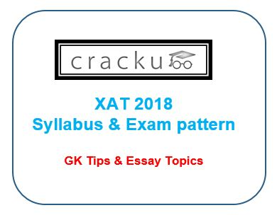 exam pattern for xat xat syllabus 2018 pdf exam pattern xat gk essay