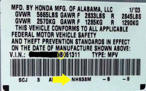 honda paint code locations touch up paint html autos post