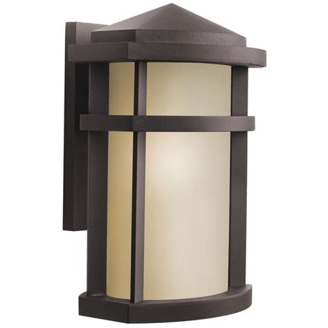 Modern Outdoor Lights Kichler Modern Outdoor Wall Light In Bronze Finish 9167az Destination Lighting