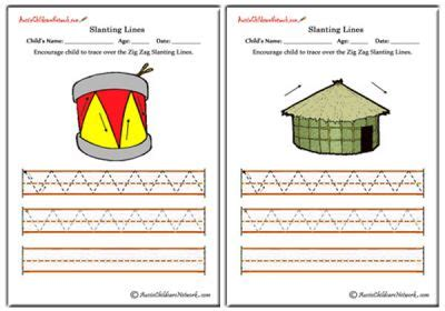mountain pattern worksheet for nursery slanting lines worksheets up and down aussie childcare