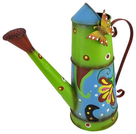decorative watering cans colorful hand painted decorative watering can with