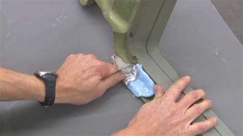 how to fix cracked bathtub plastic repair cracked plastic shower base