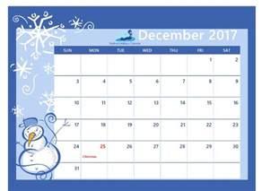 Calendar For December 2017 December 2017 Printable Calendar Printable Calendar 2017