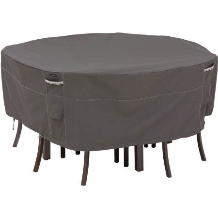 Classic Accessories Ravenna Large Round Patio Table And Large Patio Table Cover