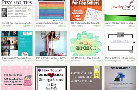 Find On Etsy Tips On Selling Ebooks And How To Guides On Etsy