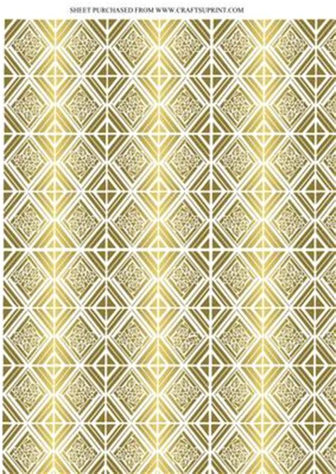 Backing Papers For Card - deco gold tile effect backing paper cup142539 617