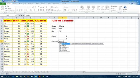 tutorial excel countif how to use excel countifs function