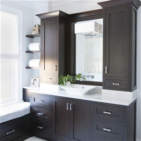 espresso cabinets modern bathroom terracotta properties