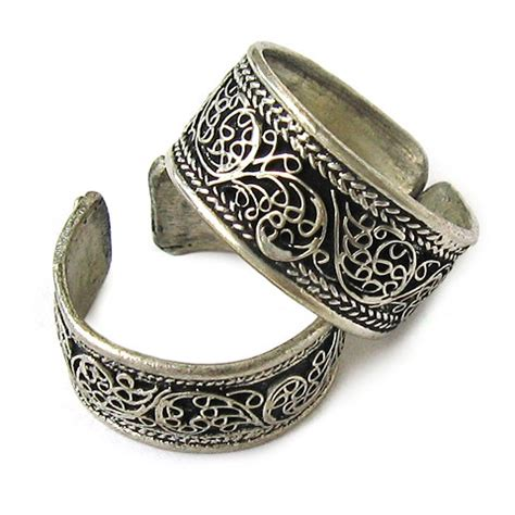 jewelry mall88 wide adjustable tibetan silver filigree