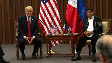 trump duterte trump duterte meet during asean summit cnn video