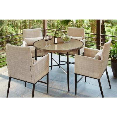 hton bay 5 patio high dining set fcs80223st