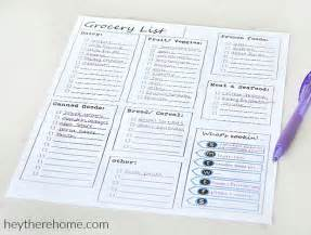 menu planning template with grocery list printable meal planning templates to simplify your