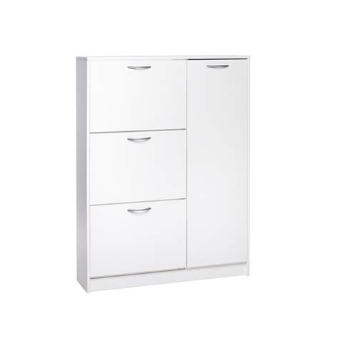 white shoe cabinet with doors swift wooden shoe cabinet in sonoma oak with 3 flaps and 1