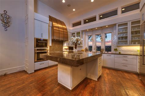 neo prairie style parade home transitional kitchen