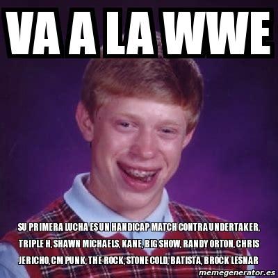 Randy Orton Meme - meme bad luck brian va a la wwe su primera lucha es un