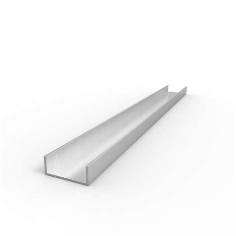 1 x 2 aluminum c channel aluminum channel 1 quot leg x 1 1 8 quot od x 1 quot id x 1 16 quot wall