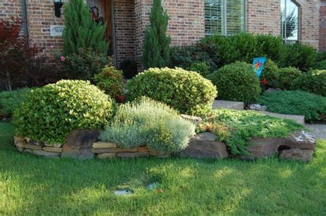 front yard bushes with rock edging dream home pinterest