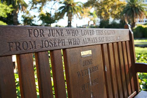 Notting Hill Bench Quote Like Success