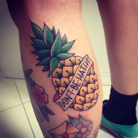 traditional pineapple tattoo
