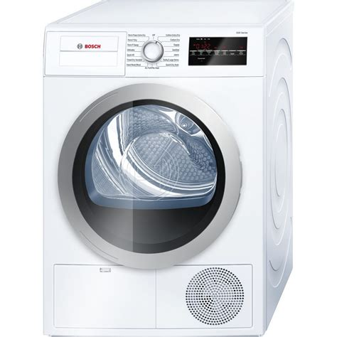 Automatic Dryer wtg86401uc bosch 500 series 4 0 cu ft electric ventless dryer white s appliances