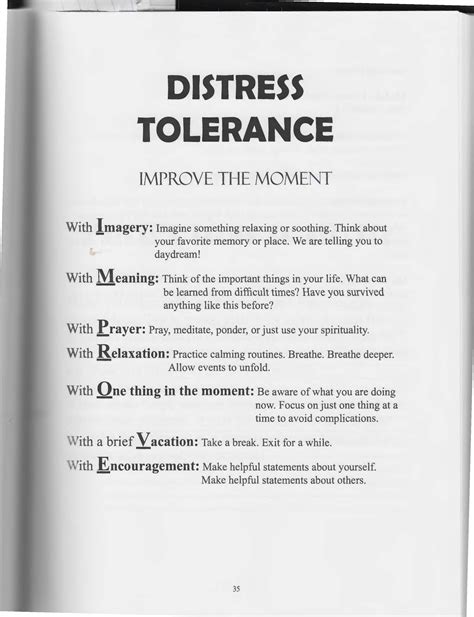 Dialectical Behavior Therapy Worksheets by Uncategorized Distress Tolerance Worksheets