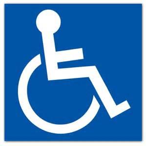 Make a disabled sticker handicap sticker or wheelchair accessible