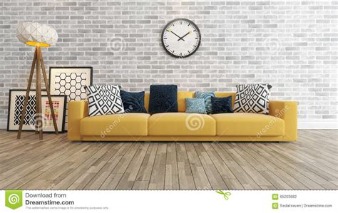 Home Design 8 0 Free Download living room with big watch on white brick wall 3d
