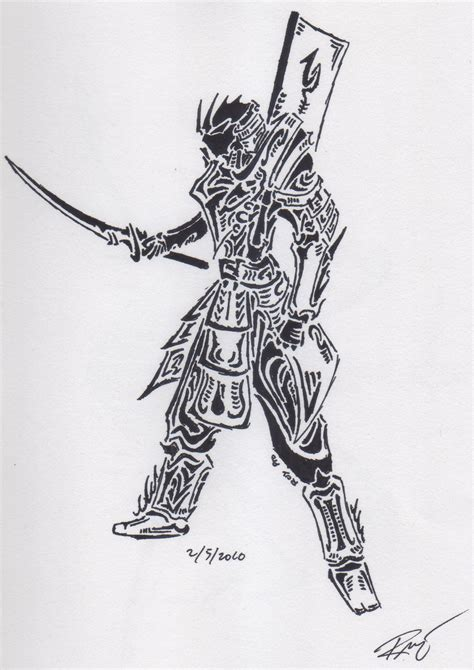 tribal samurai by roycorleone on deviantart