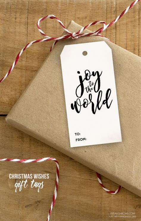 Thirty Handmade Days - 175 free printable gift tags unoriginal