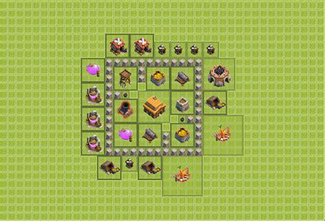 layout coc untuk th 3 formasi base clash of clans terbaik untuk clan war tips dani