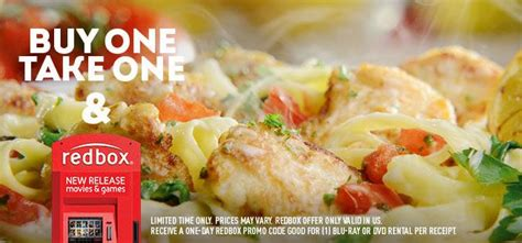 Olive Garden 12 99 by Olive Garden Get 2 Entrees A Redbox Code Starting At