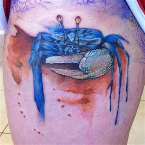 watercolor tattoos maryland watercolor blue crab tattoos
