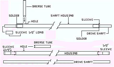 rc boat drive shaft setup making drive shafts and rudders