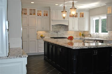white kitchen dark island white cabinets with dark wood kitchen island