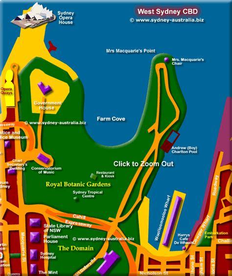 map sydney cbd