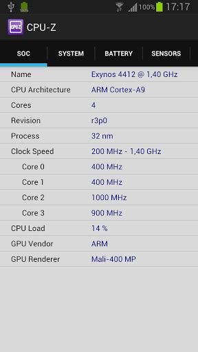 cpu z apk click to zoom images