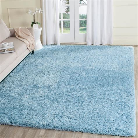 light blue shag rug safavieh supreme shag light blue 8 ft x 10 ft area rug sgs621d 8 the home depot
