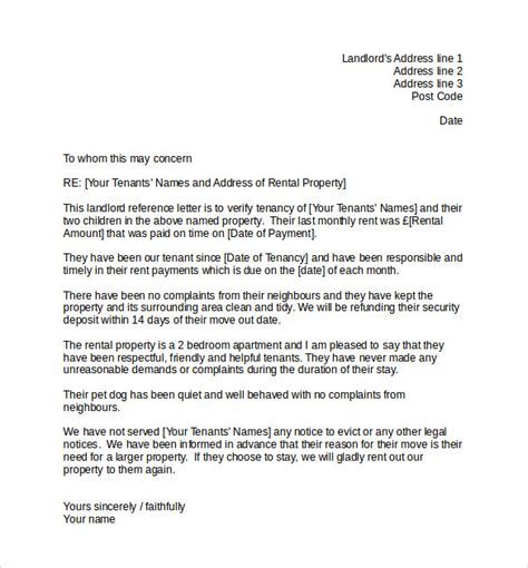 Reference Letter Uk 60 reference letter for landlord uk letter for uk