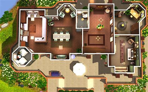 sims 3 modern house floor plans modern house plans for sims 3