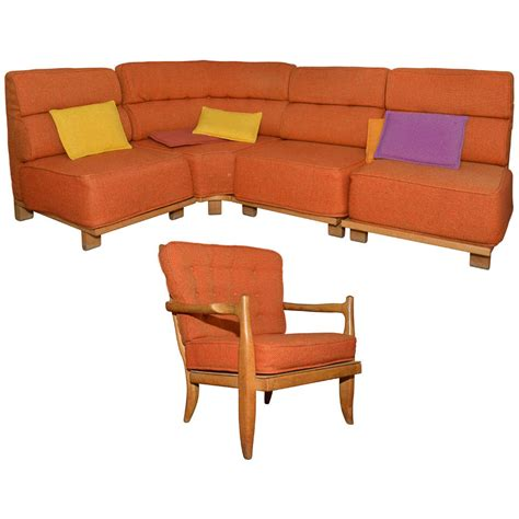 1950 living room furniture 1950s living room set by guillerme and chambron at 1stdibs