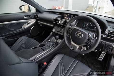 lexus rc f 2017 interior 2017 lexus rc f review video performancedrive