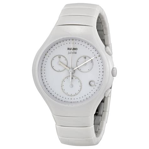 rado white chronograph sports swiss