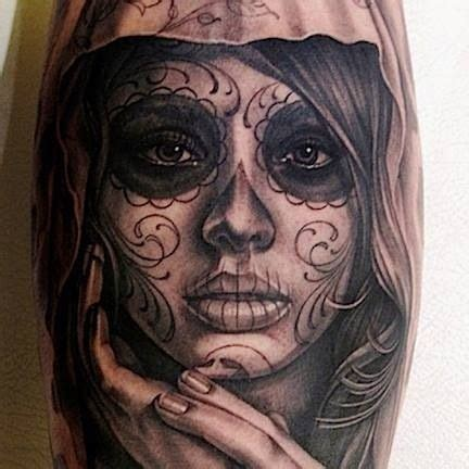 day of the dead face tattoos 44 day of the dead tattoos gallery