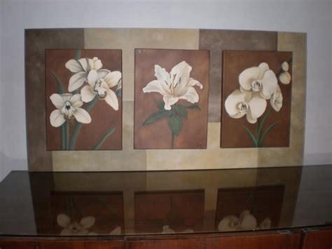 imagenes para pintar tripticos tripticos de flores al oleo imagui