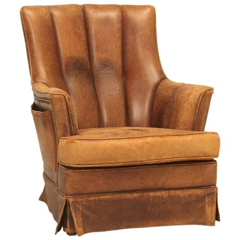 french leather armchair french leather armchair with magazine pocket for sale at
