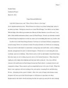 Self Reflection Research Paper by Sle Career Research Reflection Reflection