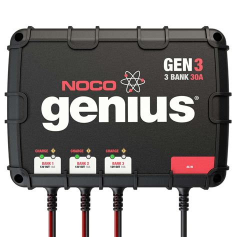 marine onboard battery charger noco 3 bank 30a on board battery charger gen3