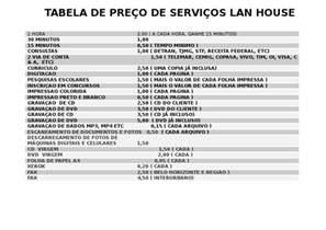 tabela de valor de hora de frentista de sp 2016 tabela de pre 199 o de servi 199 os lan house