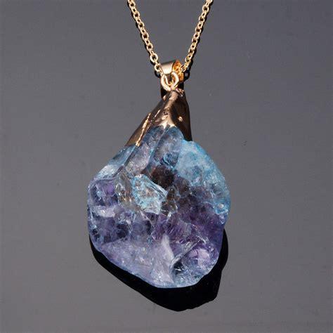 Irregular Pendant Necklace irregular quartz pendant necklace