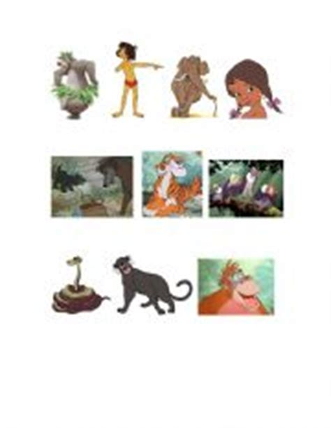 jungle book characters pictures and names worksheets the jungle book characters and